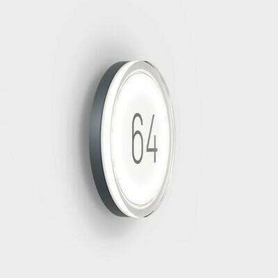 IP44.de Lisc Number Wandleuchte mit Hausnummer