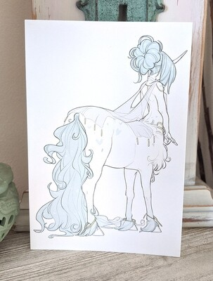 Teal Centaur (4x6)