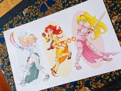 Mario Princess Warriors (11x17)