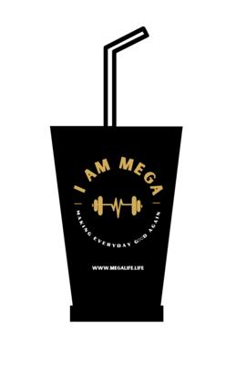 I AM MEGA Black Tumbler with Straw (COMING SOON)