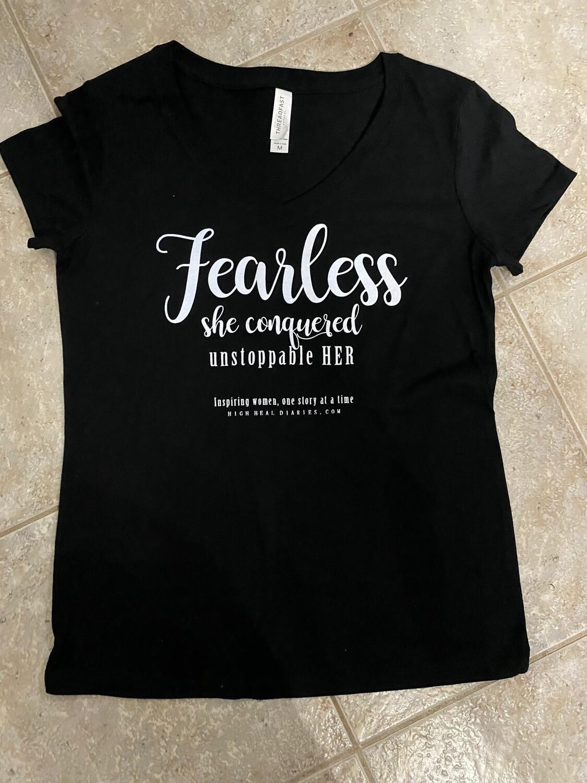 """High Heal Diaries """"Fearless"""" T-Shirt"""