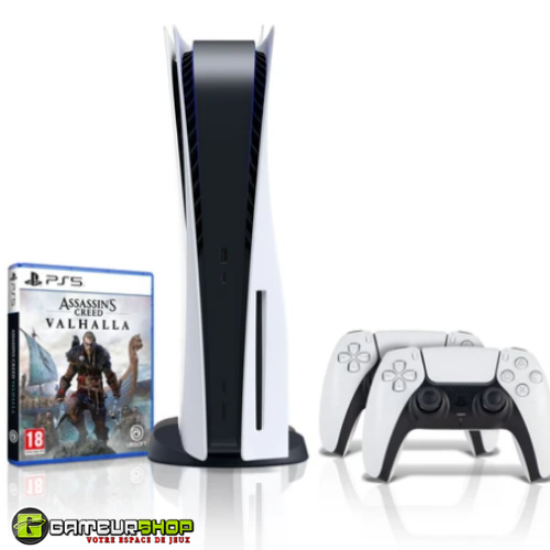 PS5 Bundle with Assassin's Creed: Valhalla + Extra Controller