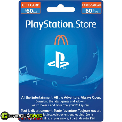 Playstation Store Gift Card $60