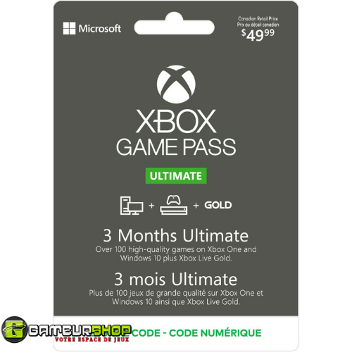 Xbox Game Pass Ultimate 3-Month Membership