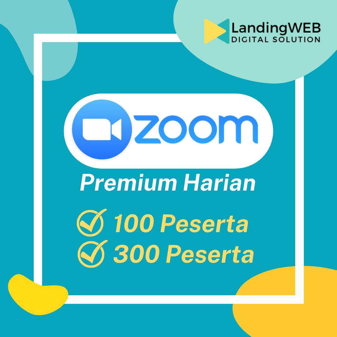 Sewa Akun Zoom Premium (PRO) Harian untuk 100-300 Peserta