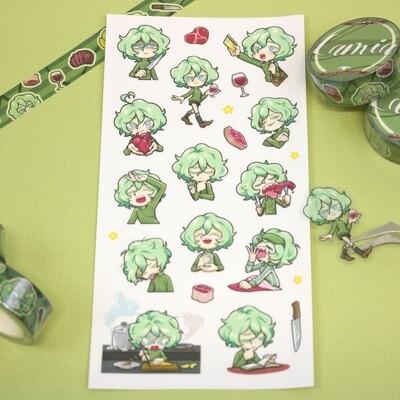 Lamia Sticker Sheet