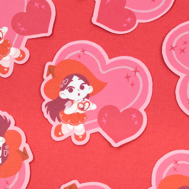 Heart Witch Sticker