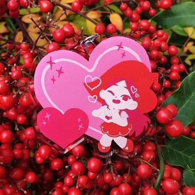 Heart Witch Acrylic Charm