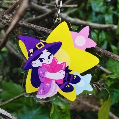 Star Witch Acrylic Charm