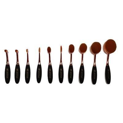 Oval Makeup Brush Set