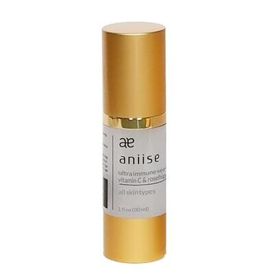 Ultra Immune Face & Neck Serum, Vitamin C with Rosehip Seed Oil