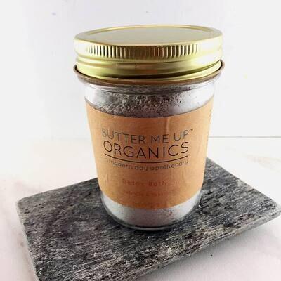 Detox bath epsom salt clay essential oil soak