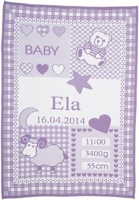 Personliga babyfilt med zodiaken. Väduren
