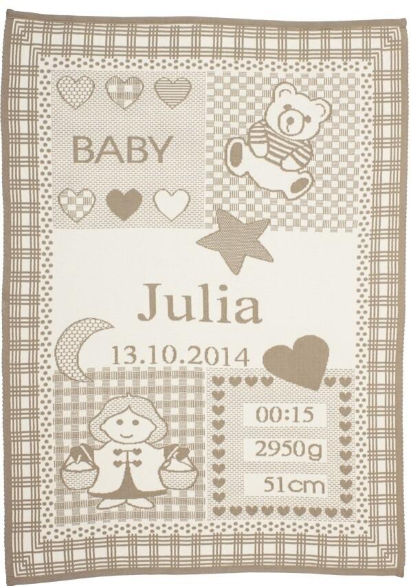 Personliga babyfilt med namn och stjärntecken. Vågen