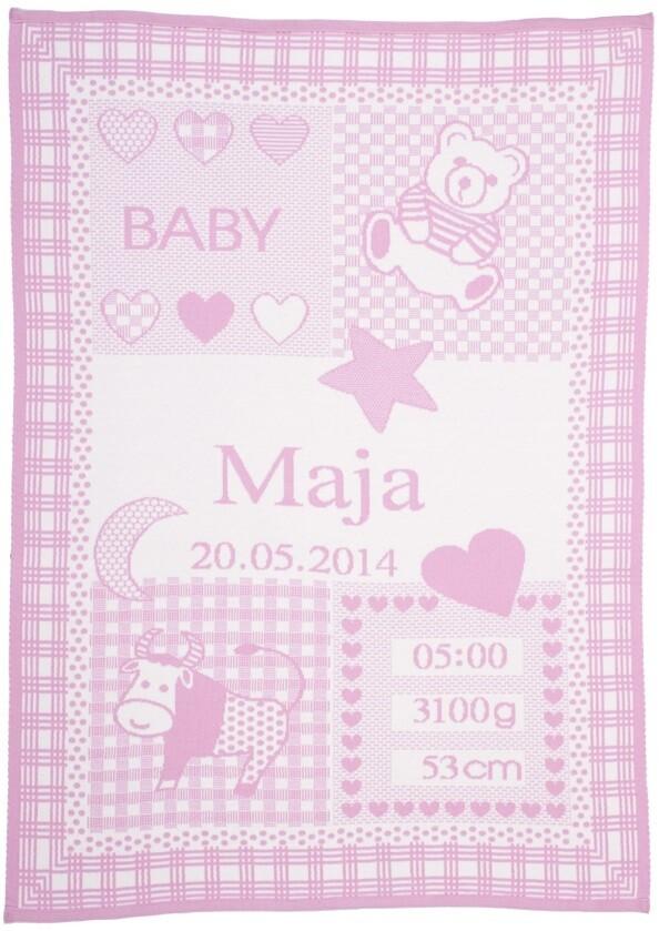 Personliga babyfilt med namn och stjärntecken. Oxen