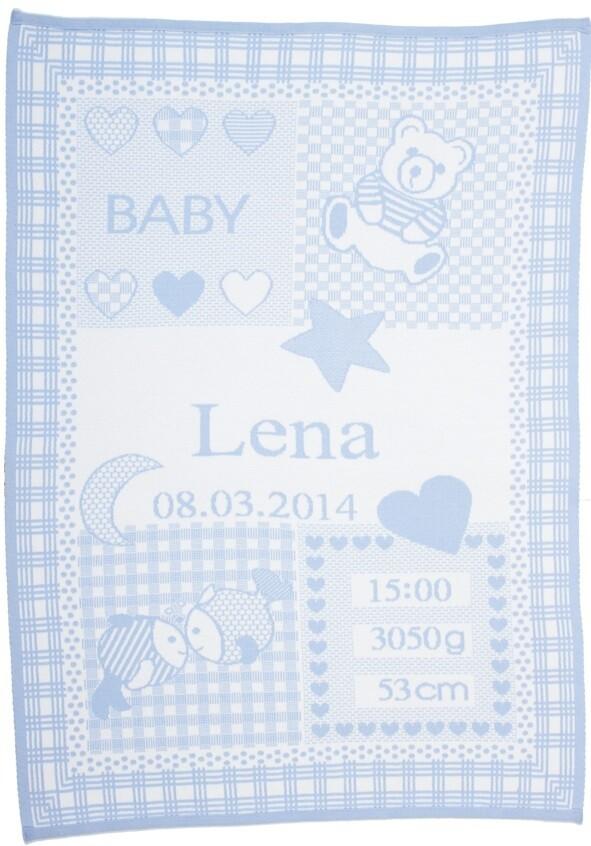 Personliga babyfilt med namn och stjärntecken. Fiskarna