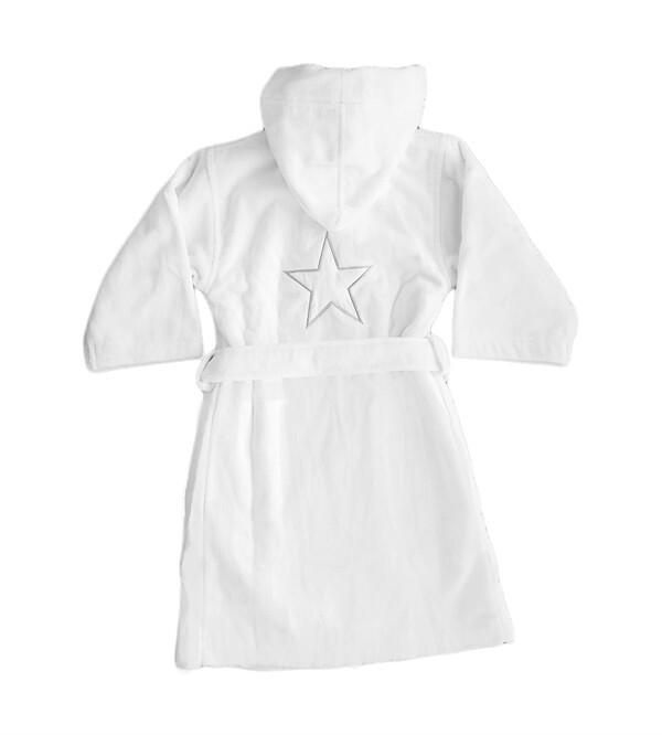 Barnbadrock med namn - vit - 6 år