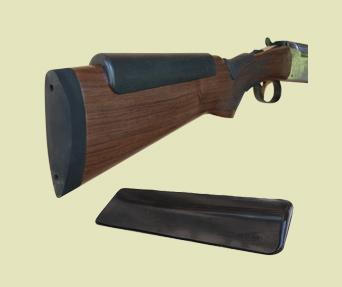 "Shotgunner's Wedge Super Soft Cheek Pad — SWCP/Shotgun Wedge 3-1/8"" W in the rear, 1-1/16"" w in the front x 7"" L and then 1/2"" thick in the rear and 1/16"" thick in the front"