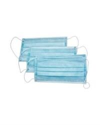 Маски защитные трехслойные голубые, 50 шт.