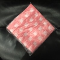 Салфетки одноразовые розовые 20*20 см, пачка 100 шт. (спанлейс 30)