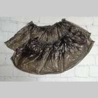 Бахилы прочные черные, 50 пар. (4 гр. 32 мкм)