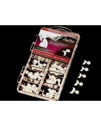 Типсы френч-экспресс слоновая кость, 120 шт/коробка