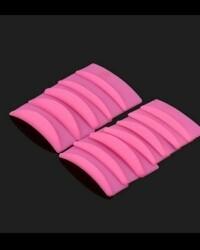 Мягкие силиконовые формы (бигуди) для ламинирования ресниц, 6 пар