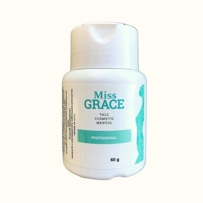 Тальк косметический для депиляции с ментолом Miss Grace, 60 гр.