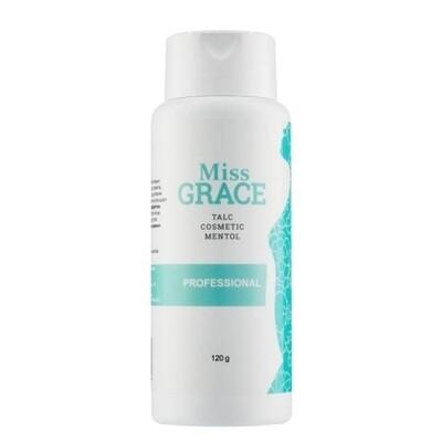 Тальк косметический для депиляции с ментолом Miss Grace, 120 гр.