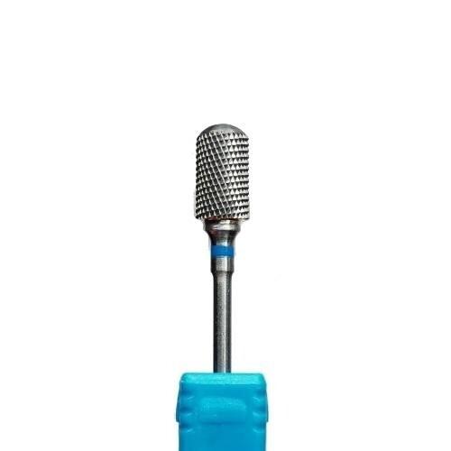 Фреза твердосплав цилиндр закругленный синяя