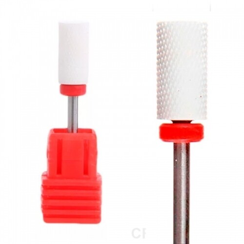 Фреза керамика цилиндр 6 мм. (красная)