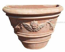 Mezzo vaso angelo - Halber Topf mit Engel
