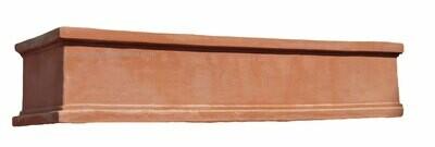 Cassetta liscia - langer niedriger Terracotta-Kasten