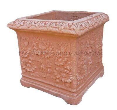 Cubo margherite - Kasten mit Blütenmuster