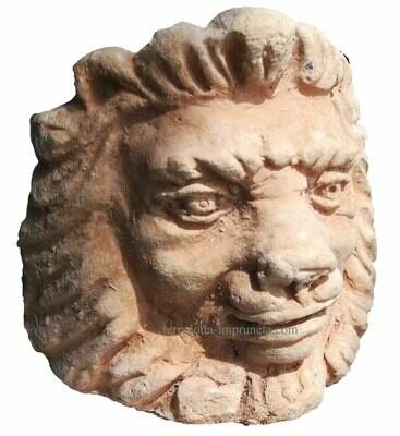Piedini testa leone - Terracotta-Fuss mit Löwenkopf