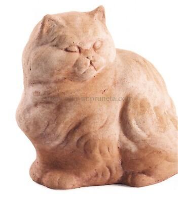 Gatto - Sitzende Terracotta-Katze