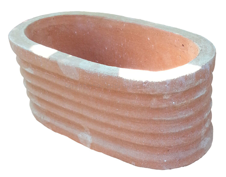 Ovale rigato - Mini-Terracotta-Kasten