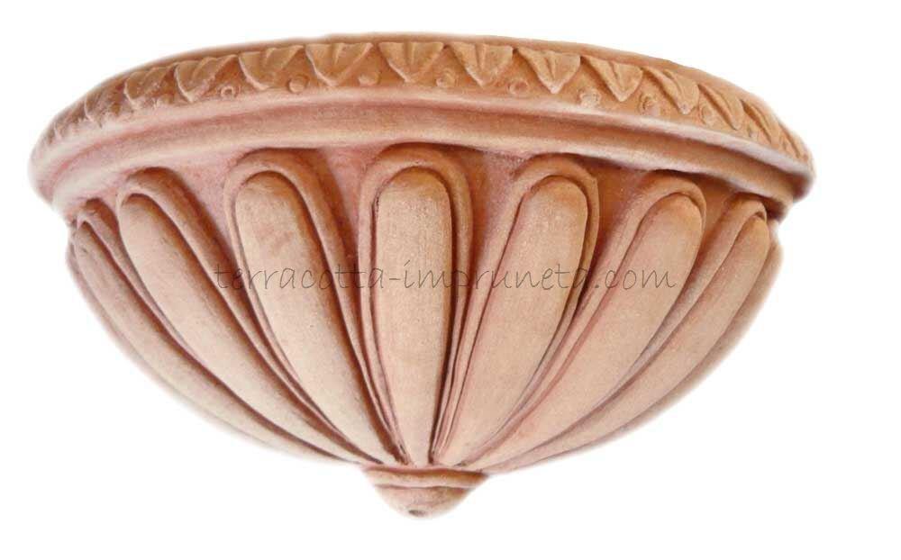 Tasca scannellata - Terracotta-Wandschale