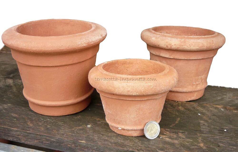 Mini vaso orlato - Kleiner Terracottatopf