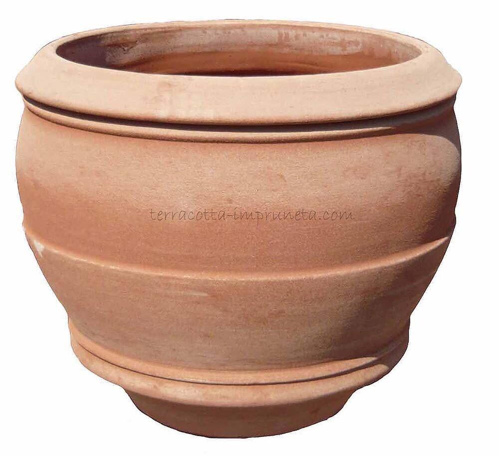 Conca Pistoia - Bauchiger Terracotta-Pflanzkübel