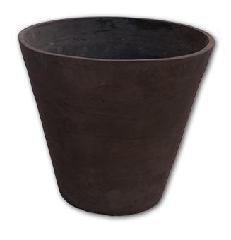 Peonia terra Impruneta d'ombra - Schlichte konische Vase Grau