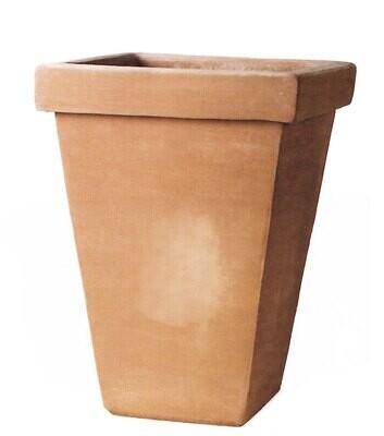 Quadrato conica - Eckiger konischer Terracotta-Topf