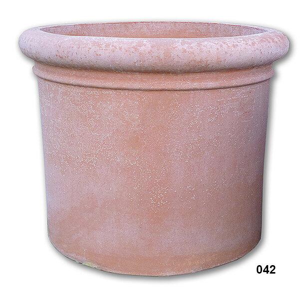 Cilindro con bordo - Terracotta-Zylinder