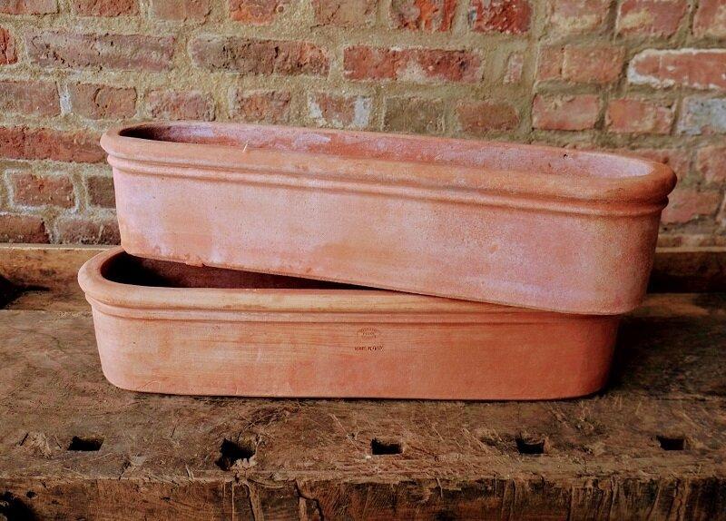 Cassetta di balcone - Terracotta Balkonkasten mit Rand