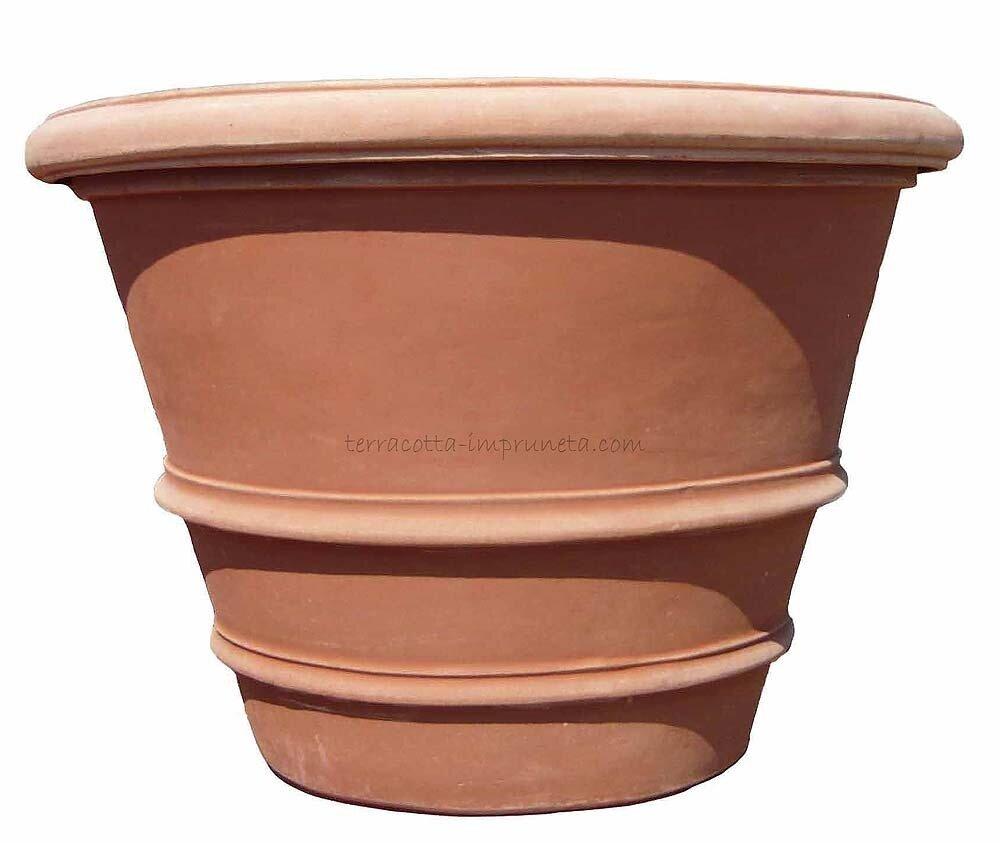 Vaso orlato  - Schlichte Terracotta-Vase