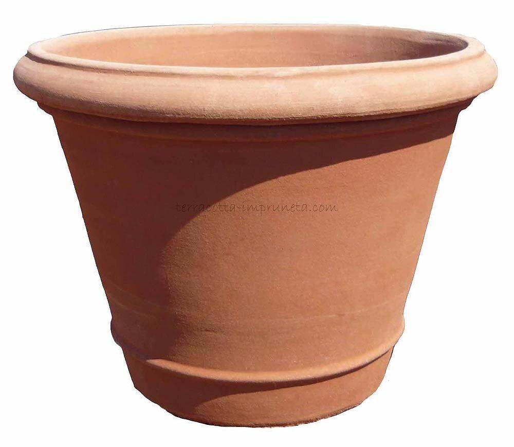 Vaso liscio con rigo - Schlichte Vase mit Wulst