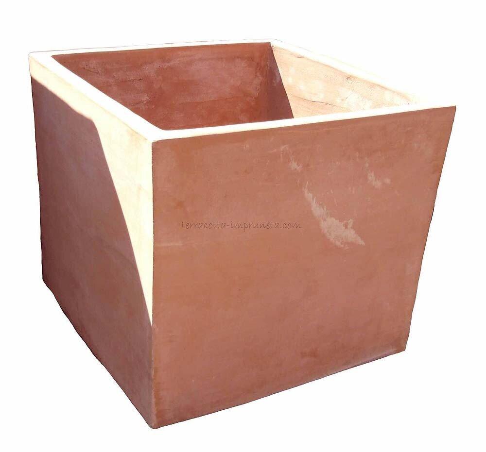 Cubo semplice - Schlichter Terracotta-Kubus (pesci)
