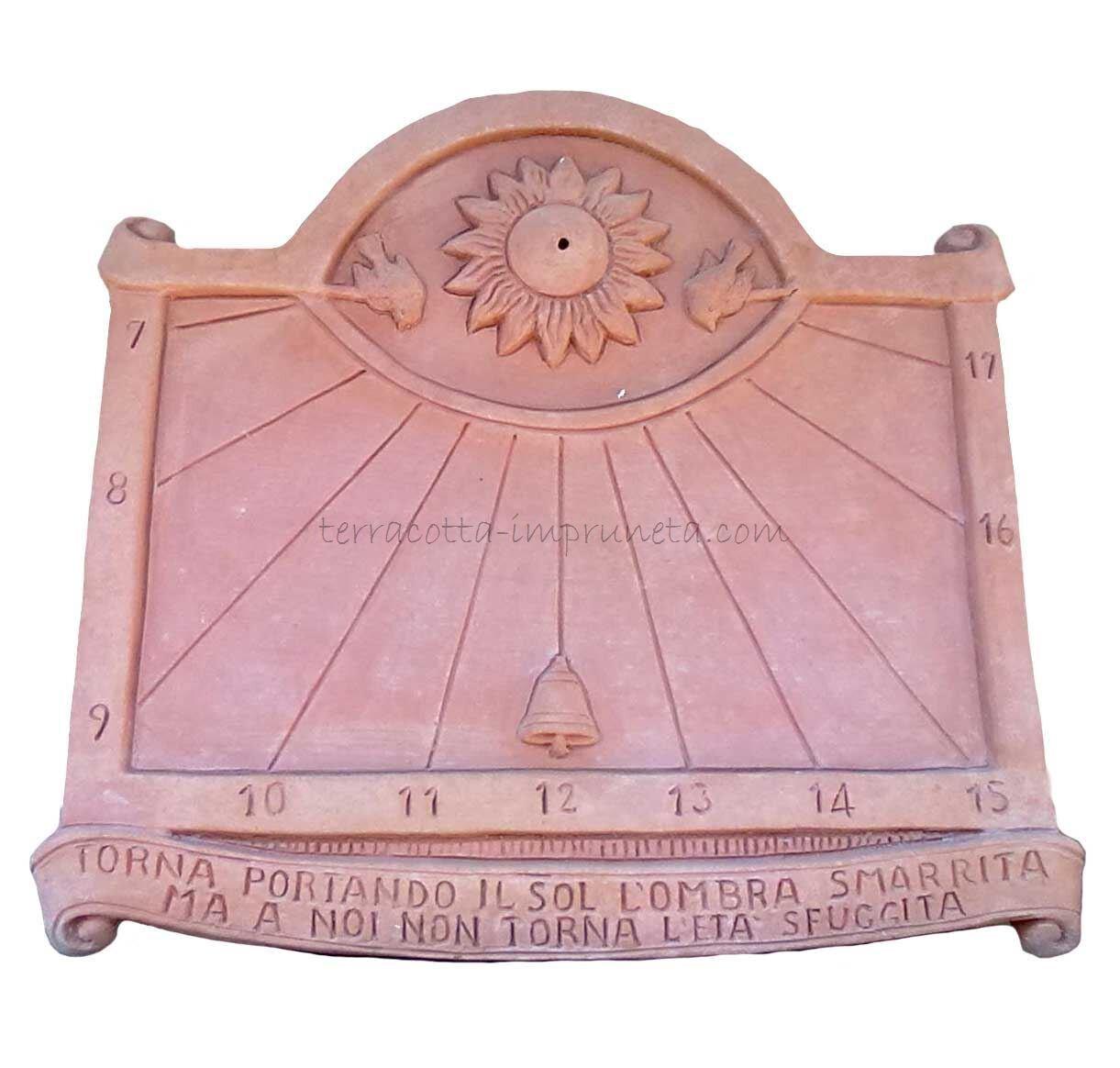 Meridiana 48 - Terracotta-Sonnenuhr