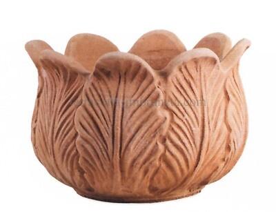 Vaso foglie - Kleiner Terracotta-Topf ohne Loch