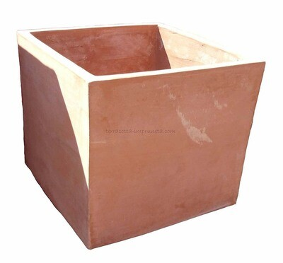Cubo semplice - Schlichter Terracotta-Kubus